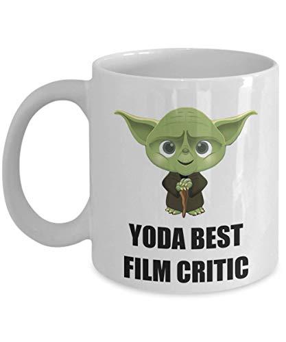 N\A Regalos de Fiesta de Navidad de cumpleaños presentes para el crítico de Cine Personal Empleado Compañero de Trabajo Hombres Mujeres Star Wars Yoda Taza de café Divertida Mejor Personalizada