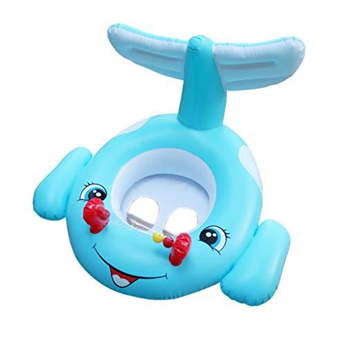 Yowablo Kinderschwimmring PVC Aufblasbarer Schwimmring Aufblasbarer Kindersitz (55x78cm,Blau)