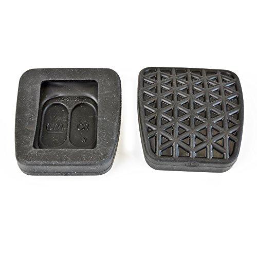 2x Bremspedal Kupplungspedal Gummi Belag passend für Opel Astra Zafira | 58 mm x 55 mm | 0560195