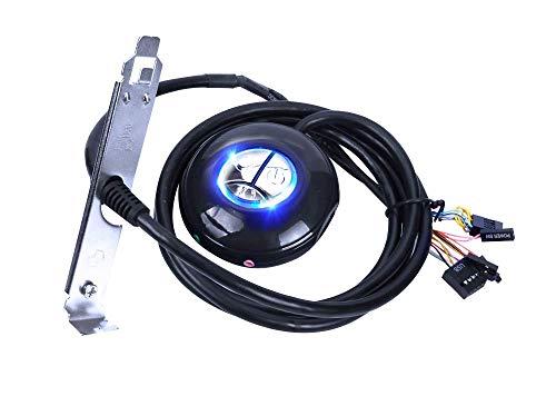 LEAGY Carcasa para ordenador de sobremesa de 52 pulgadas, con interruptor de botón y puertos USB duales y conector de audio