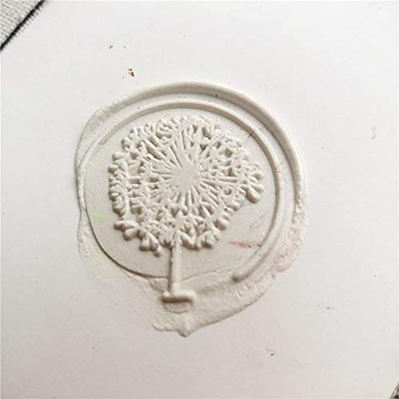 Dalab New Dandelion Wax Seal Stamp Dandelion Logo Design or Your Custom Sealing Wax Wedding Stamp Plant Wax Seal Stamp - (Color: with Handle)