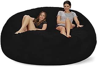 Chill Sack Bean Bag Chair: Giant 8' Memory Foam Furniture Bean Bag - Big Sofa with Soft Micro Fiber Cover - Black