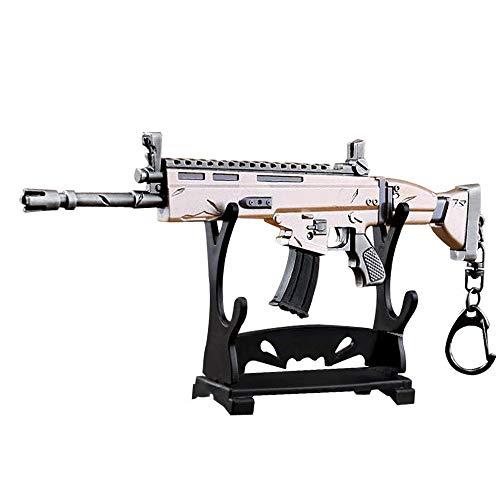 "KOBWA Arma Scar Guns Pistola 3D Modelo Llavero de Metal, Tamaño 6.8""/ 17cm, Regalo Accesorios Cosas Objetos para Niños Hombre Juego Fans"