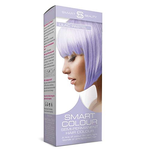 Smart Beauty | Lilac Haze Purple Pastel Semi-Permanent Hair Dye | No ammonias, parabens, sulphates or PPD | 100% vegan, cruelty-free formulation