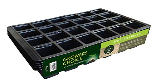 Bosmere N256 - Bandejas para plantar semillas - 5 unidades con 24 compartimentos