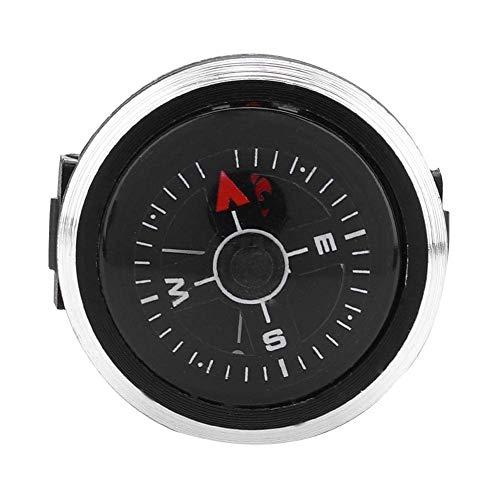 Alomejor Boussole de Poche, Mini Boussole Montre Bracelet en Alliage d'Aluminium&ABS pour Randonnée Navigation