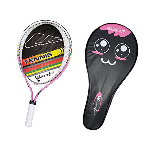Weierfu Junior Tennis Racket for Kids Toddlers Starter Racket 17-21' with Cover Bag Light Weight(Strung) (ART-19P)