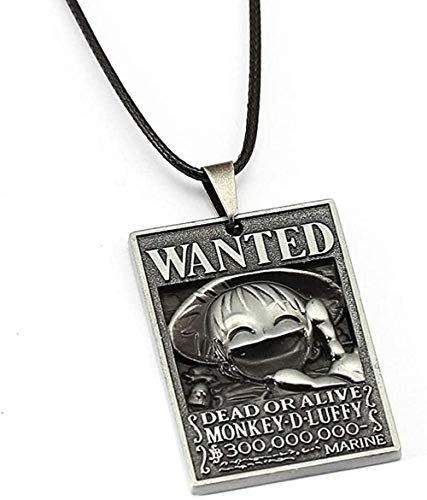 ZPPYMXGZ Co.,ltd Necklace Fashion Anime 8 Style Luffy Ace Zoro Wanted Poster Pendant Friendship Gift Jewelry Accessories