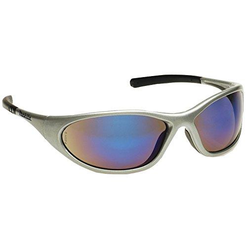 Makita P-66385  Design Sonnenbrille / Arbeitsschutzbrille, silberblau inklusiv Brillen - Etui und Putztuch