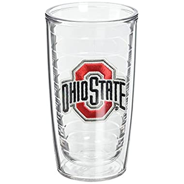 Tervis 1005914 Ohio State University Emblem Tumbler (Set of 2), 16 oz, Clear