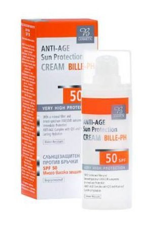 Anti-Aging Sun Protection Cream SPF 50 - Prevents burning, premature skin aging and helps reduce the risk of sun allergies 30ml