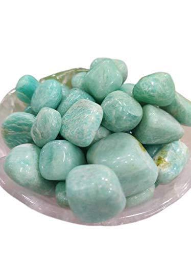 ExportsAmazonite Tumbled Stone 100 gram For Helps You Communicate Truth with Balance & IntegrityReiki ChakraHealing Crystal Stonemeditation yogaGift