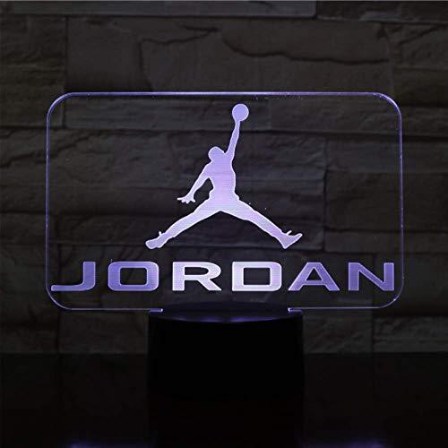 Illusion LIEBE Weihnachten Basketball Michael Jordan USB 3D LED Nachtlicht Jungen Kind Kinder Fans Geburtstagsgeschenke LED Schuhe Turnschuhe