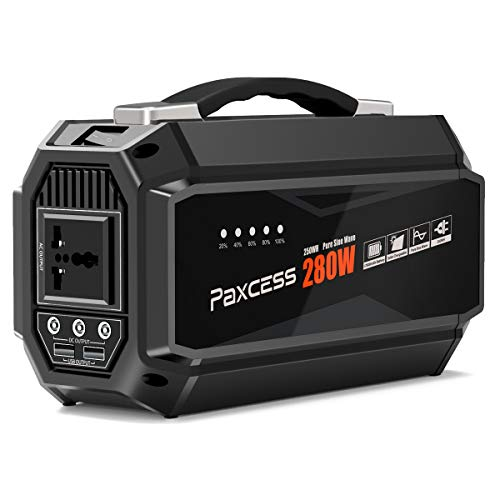 PAXCESS Generator Portable Power Station-[280W Upgraded]-Lithium Battery Pack Supply with 110V AC...