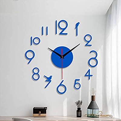 Amazon - Save 80%: 3D Dlocks for Wall DIY Wall Clock Modern Large Wall Clock Mirror Stickers Ho…