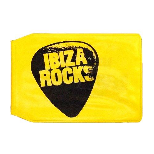 Ibiza Rocks Tarjetero Amarillo de Plastico con Logo - Amarillo, Talla única