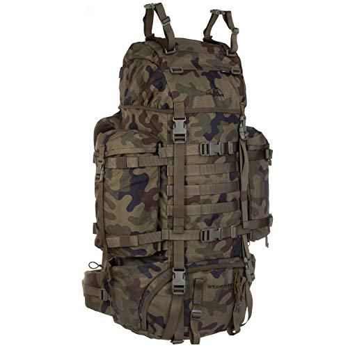 Wisport großer Backpacker Rucksack Damen Herren + inkl. E-Book | Work and Travel Backpack für Mädchen Jungen | Traveller Pack | Cordoba | Camouflage | Reindeer 75 Liter WZ-93
