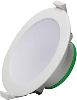 10W Dimmable LED Ceiling Light,LED Recessed Downlight Kit 92mm Cutout Recessed Light IP44 950lm 3000K Warm White,Flush Mou...