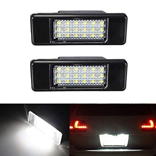 GofoRJUMP 2 witte LED-kentekenplaatverlichting voor P/Eugeot 106 1007 207 307 308 3008 406 407 508 806 Citroen C2 C3 C4 C5 C6 C6 DS3
