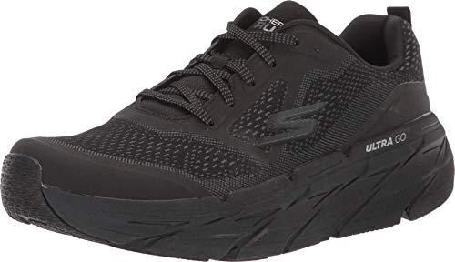 Skechers Men's Max Cushioning Premier Vantage-Performance Walking & Running Shoe Sneaker, Black/Charcoal, 10.5