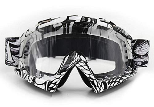 Vemar mascherina occhiali Motocross enduro Sci Snowboard Antivento Antipolvere Antigraffio (Lente Trasparente, Modello 2)