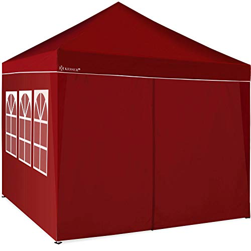 KESSER® 2X Seitenwand Rot für Pavillon 3x3m - Faltpavillon Pop Up   klappbar   platzsparend   verstaubar