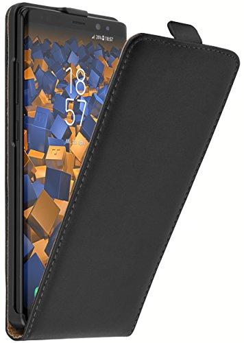 mumbi Tasche Flip Hülle kompatibel mit Samsung Galaxy Note 8 Hülle Handytasche Hülle Wallet, schwarz