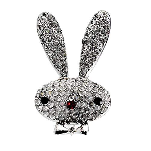 Amosfun Ostern Geschenk Diamant Kleine Kaninchen Legierung Abzeichen Kristall Brosche Schmuck für Anzug Clothers und Taschen