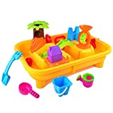 KTYX Set di Sandbox, Tabelle di Sabbia e Acqua, Sabbia Stampo Giocattolo Falda Giardino Buca di Sabbia Gioco Set da Spiaggia Irrigazione Mulino Ad Acqua può