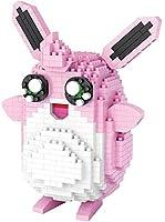 Mopoq ポケモン:プクリン、組み立てとビルディング・ブロック、3Dモデルの建物のおもちゃ、小粒ビルディング・ブロック、3Dパズル、挿入と挿入、クリエイティブ玩具ブロック、
