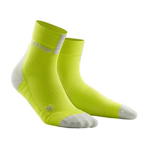 CEP – SHORT SOCKS 3.0 für Herren | Sportsocken für mehr Power und Ausdauer in grün / grau in Größe IV