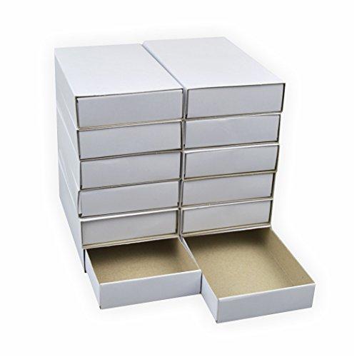 Streichholzschachteln Groß, 12 Stück blanko weiss ca. 11x6x2 cm