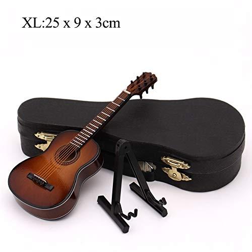 N/A NIEUWE Mini Gitaar Miniatuur Model Houten Mini Muziekinstrument Model, XL: 25CM