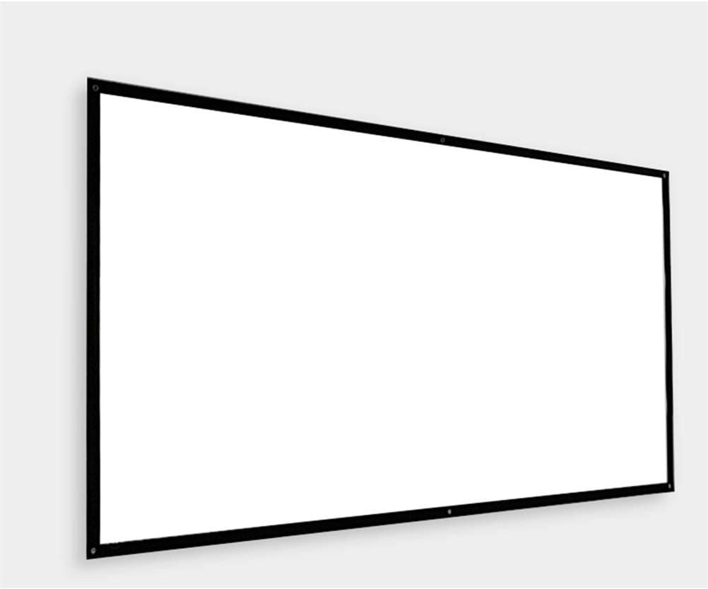 FMOGE Portable HD 120-inch 16:9 Projector Screen Matt White Anti-Crease Projection Screen Wall-Mounted Home Theater Big Canvas