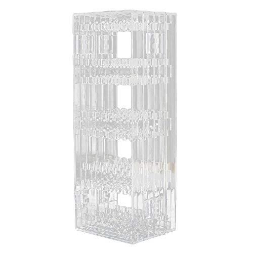 Danigrefinb Joyeros Cajas y Organizadores Transparente Pendientes Collar Expositor Plegable Joyero Organizador Joyero Expositor Soporte, plástico, Transparente, 4