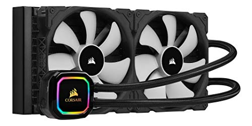 Corsair iCUE H115i RGB PRO XT Refroidissement Liquide pour Processeur (Radiateur de 280 mm, Deux Ventilateurs Corsair ML PWM de 140 mm, 400-2000 RPM, Pompe RGB Multizone Dynamique) Noir