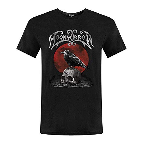 CHENYINJJ Hombre Moonsorrow Skull Round Collar Camiseta T-Shirt Small