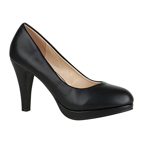 Elegante Klassische Damen Schuhe Pumps Glitzer Abendschuhe 155899 Schwarz Camargo Brito 41 Flandell