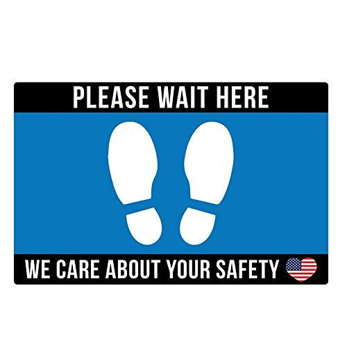 Chutoral Safety Floor Sign Marker Social Distancing Bodemaftrekplaatjes - Afstand Sticker Veiligheidsafstand rond voor kantoor, bedrijf, school, hotel, werkbeveiliging 2