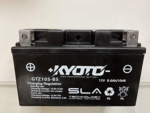 Batteria moto Kyoto GTZ10S SLA (YTZ10S) compatibile con Honda CBR RR (PC37A) 600 2003-2006 - Pronta all'uso 12 V 8,6 Ah 150 x 87 x 93 mm