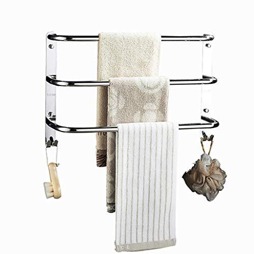 BH shelves shelves towel rack 3 floors with hooks towel rack with hooks SUS 304 stainless steel wall towel rack bar for kitchen bathroom bathroom hotel office