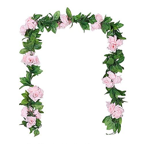 NITAIUN 3 Piezas Artificiales Flores Guirnalda Rosas Vides Flores Falsas Colgando Plantas Hiedra...