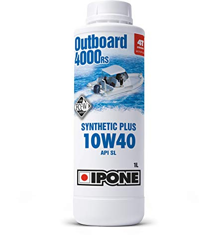 IPONE - Huile Bateau 4 Temps 10W40 OUTBOARD 4000 RS - Bidon 1 Litre - Lubrifiant Semi-Synthétique...