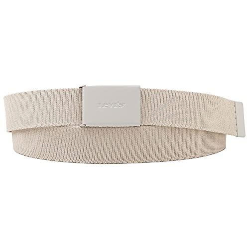 Levi's Levis Wordmark Web Belt Cintura, Beige, One Size Men's