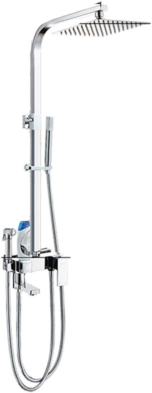 Doccia Duschsystem,Druckspritzpistole, Vier Wasserauslsse, 1,5 M Edelstahlschlauch