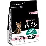 PRO PLAN Small & Mini Puppy Sensitive Skin avec OPTIDERMA Riche en Saumon - Croquettes pour chiots de petite taille - 3 kg