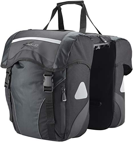 XLC Unisex– Erwachsene BA-S63 Doppelpacktasche Carry More, schwarz, Einheitsgröße