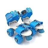 NEYU Designed Plastic Adjustable Inline Roller Skates/Skating Shoe with Front Break for Kids (Multicolor, 4-12 Years)