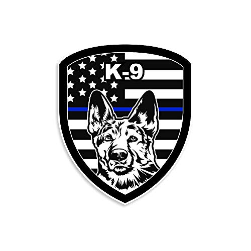 NEO Tactical Gear K9 Thin Blue Line Police Law Enforcement Leo Vinyl Decal Made in The USA (1)