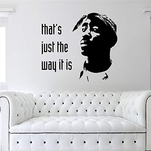 Hetingyue wandstickers, vinyl, zelfklevend, hip hop home interieur bedroom, wandstickers, afneembaar